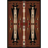 Horse Thieves Brown Area Rugs