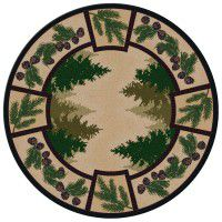 Pine Forest Round Area Rug