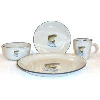 Rainbow Trout Dinnerware - Service for 4