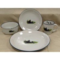 Bear and Cubs Cabin Dinnerware - Service for 4