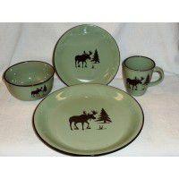 Meadow Moose Dinnerware - Service for 4