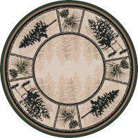 Stoic Pines Round Rug