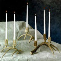 One Antler Candle Holders