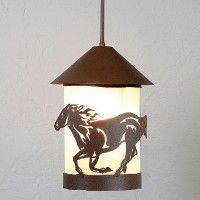 Vista Horse Pendant Light