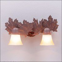 Lakeside Vanity Lights - Maple - 3 Sizes Available
