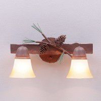 Lakeside Vanity Lights - Pine Cone - 3 Sizes Available
