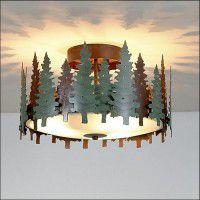 Woodcrest Pine Tree Ceiling Light