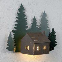 Cozy Log Cabin Sconce