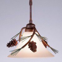 Cedarwood Pendant Light- Pine Cone
