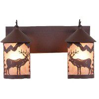 Cascade Valley Elk Vanity Lights