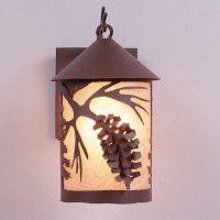 Cascade Spruce Cone Lantern Sconces