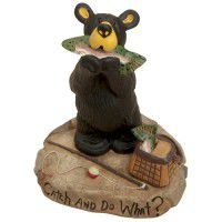 Catch and Do What? Bear Figurine