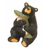 Whopper Bear and Fish Figurine
