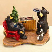 Backyard BBQ Bear Figurine