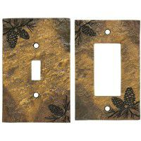 Rustic Pine Cone Switch Plates
