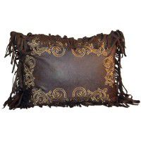 Embroidered Scroll Pillow