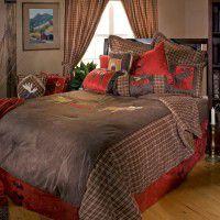 Moose Plaid Comforter Sets