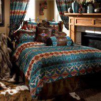 Turquoise Chamarro Comforter Sets