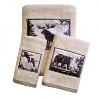 Rustic Montage Wildlife Towel Set - 3 Pcs