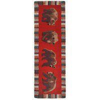 Cinnamon Bears Wool Runner