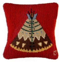 Teepee on Red Pillow
