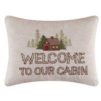 Rustic Retreat Welcome Pillow - CLEARANCE