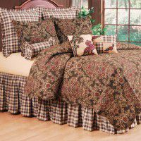 Rustic Damask Quilt Ensemble-Queen - CLEARANCE