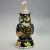3-D Owl Lotion Pump-CLEARANCE