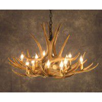 Grand Prairie 9 Antler Chandelier  sc 1 st  The Cabin Shop & Reproduction and Faux Antler Lighting Fixtures. azcodes.com