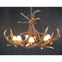 Yuma 6 Antler Chandelier  sc 1 st  The Cabin Shop & Reproduction and Faux Antler Lighting Fixtures. azcodes.com