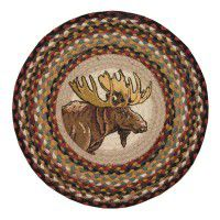 Moose Portrait Chair Pads - Set of 4