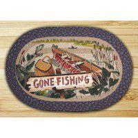 Gone Fishing Braided Rug