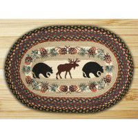 Hand Printed Moose & Bear Place Mats and Runner