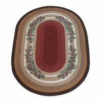 Pinecone Red Berry Area Rug