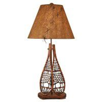 Double Snowshoe Table Lamp