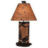 Small Mountain Valley Bear Table Lamp