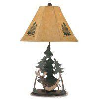 Moose in Hammock Table Lamp