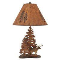 Deer in Trees Table Lamp