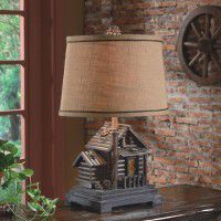 Log Cabin Table Lamp