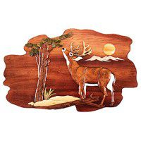 Morning Buck Wood Wall Art