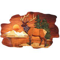 Elk Mountain Wood Wall Art