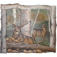 Deer Family Wood Wall Art