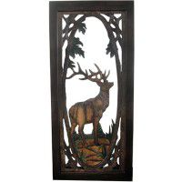 Elk Carved Screen Door