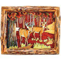 Fall Deer Wood Wall Art