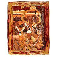 Deer in Woods Wood Wall Art