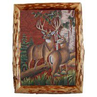 Deer Couple Wood Wall Art