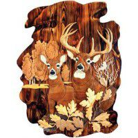 Deer in Woods Wall Art