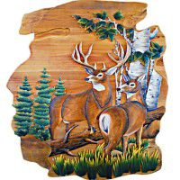 Summer Deer Wood Wall Art