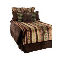 Chocolate Stripe Fleece Bedding
