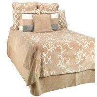 Cashew Swirl Fleece Bedding